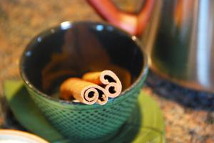 Cinnamon Sticks in a Japanese Tea Cup